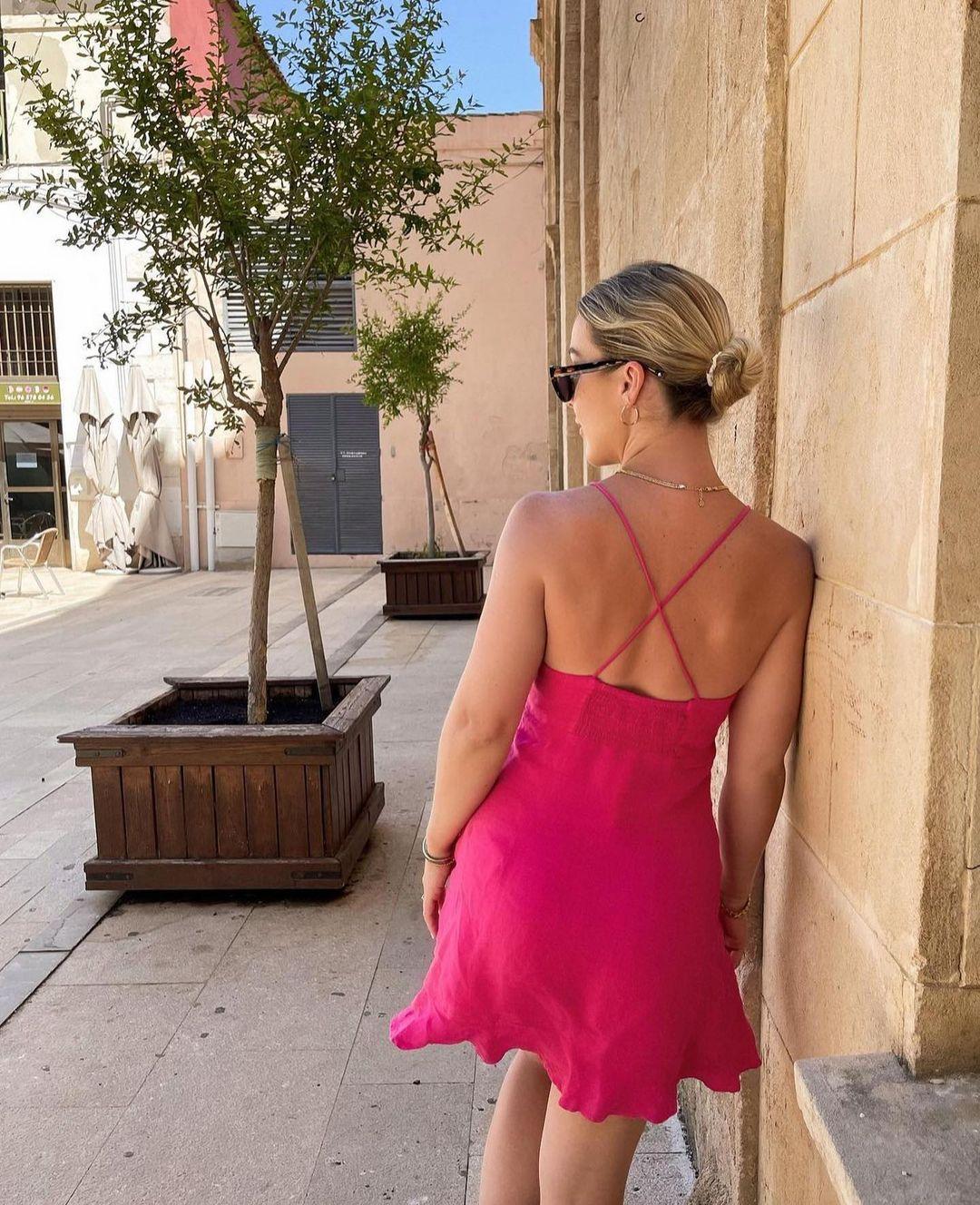 satin short dress de Zara sur zara.outfits