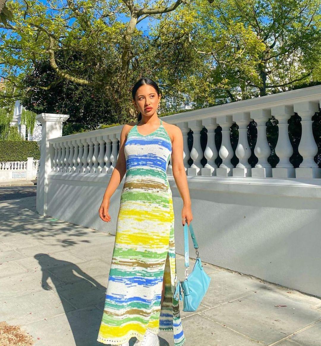 long knit dress de Zara sur zara.style.daily