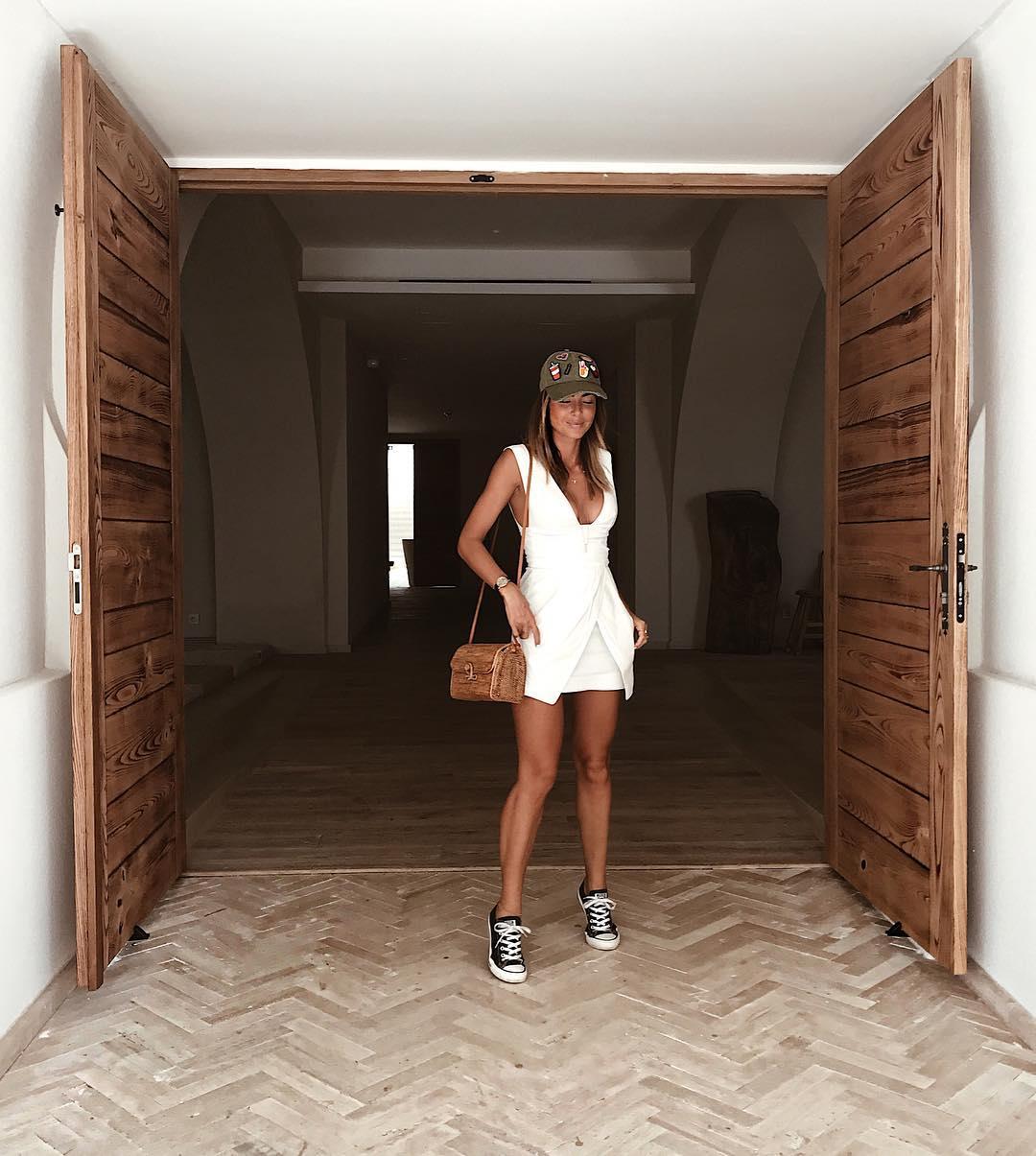 tennis converse chuck taylor all star de Bershka sur looknatamelie