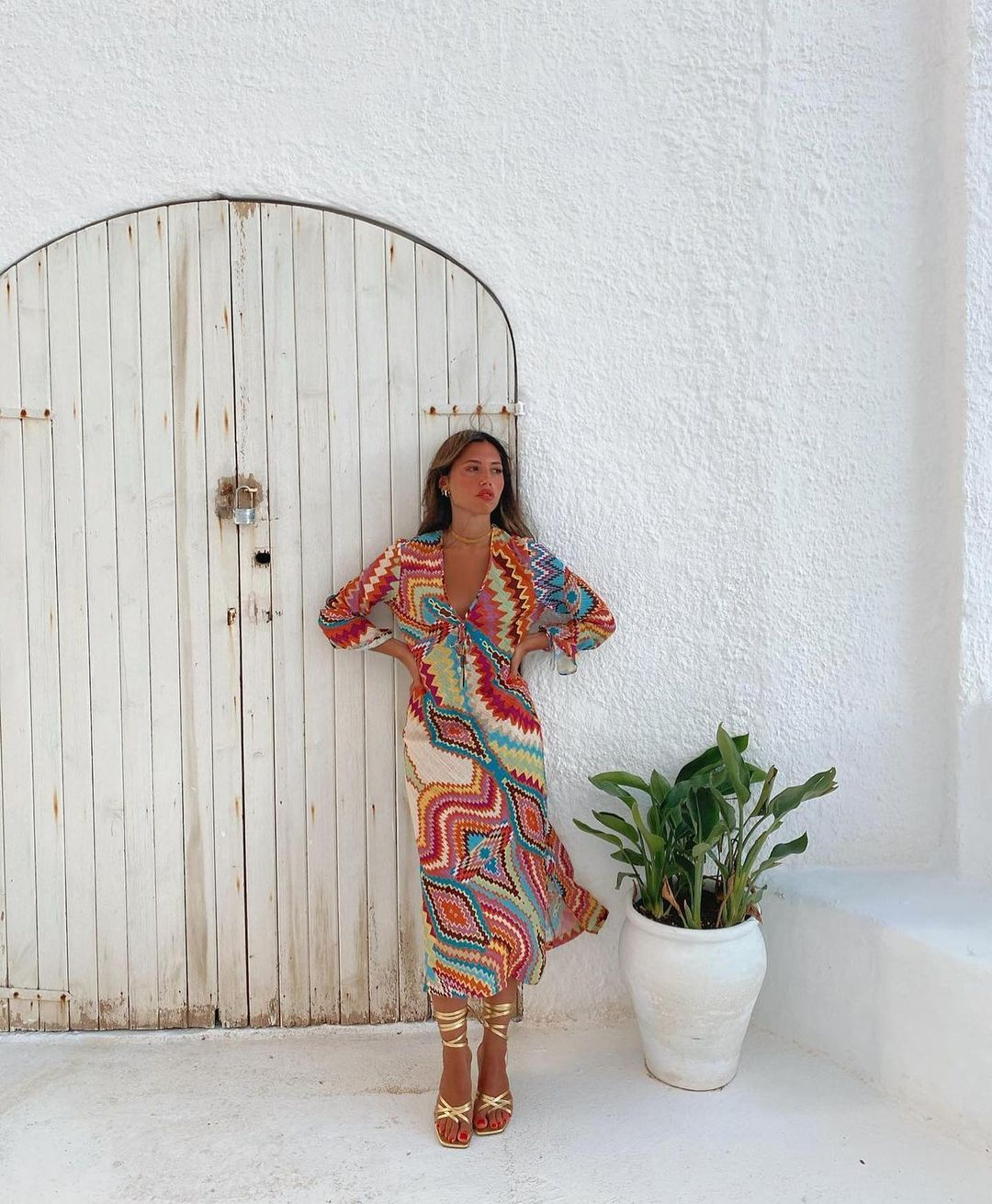 printed long dress de Zara sur zara.outfits