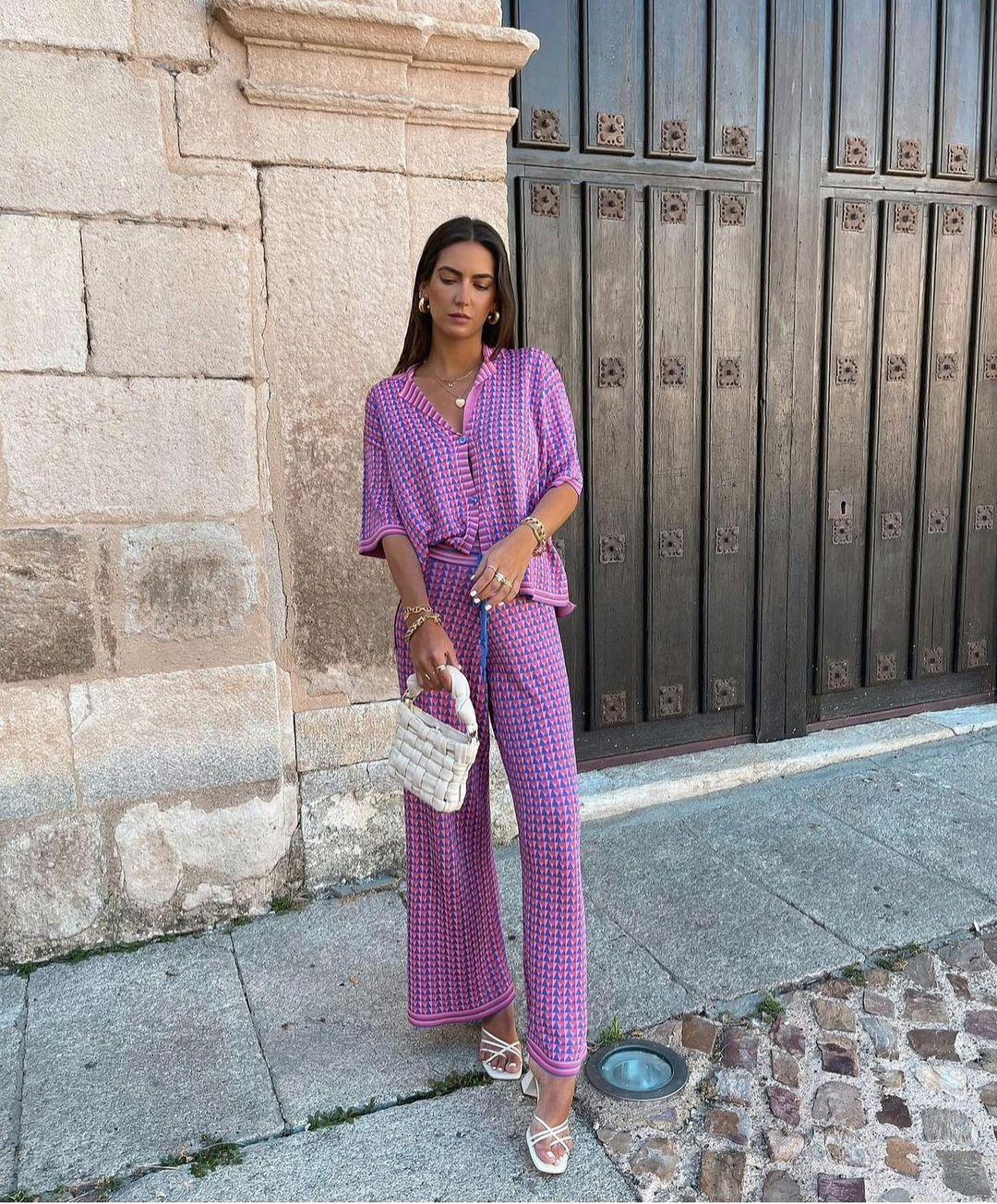 jacquard knit culottes de Zara sur zara.outfits