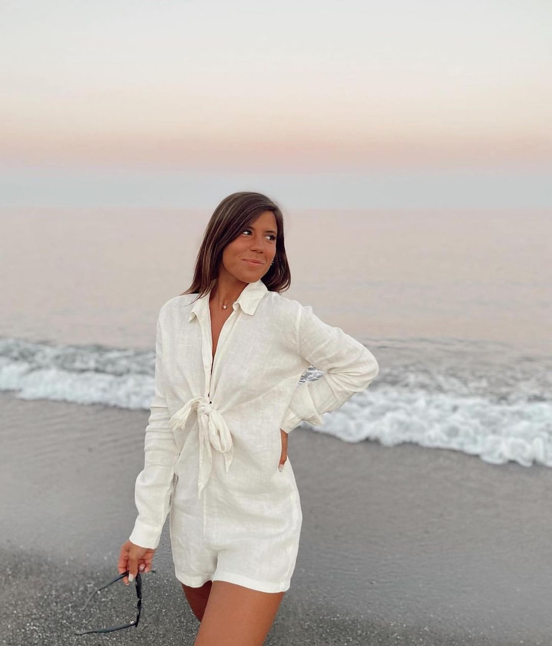 linen jumpsuit with bow de Zara sur zaradiccion__
