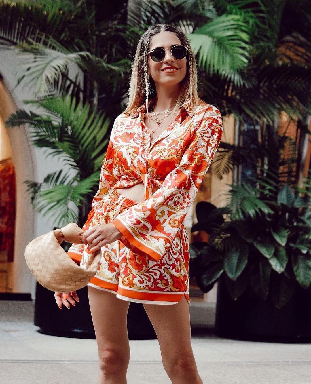 flowing printed shorts de Zara sur zara.outfits