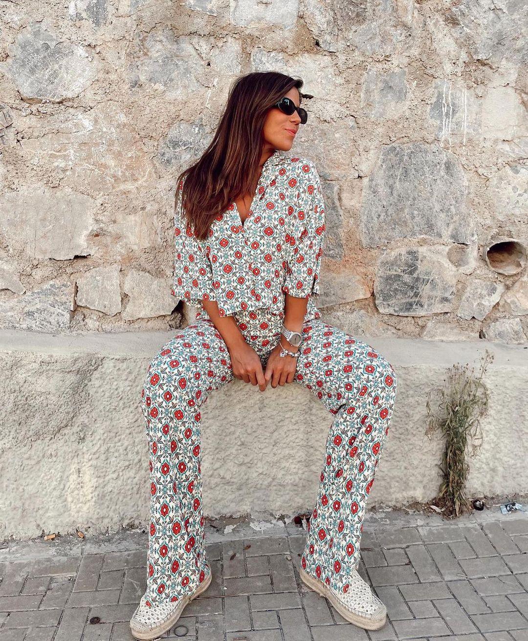 pantalon full length imprimé de Zara sur zara.outfits