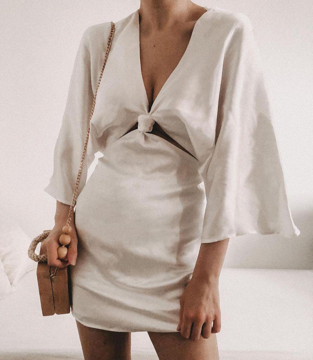 satin dress de Zara sur zara.outfits
