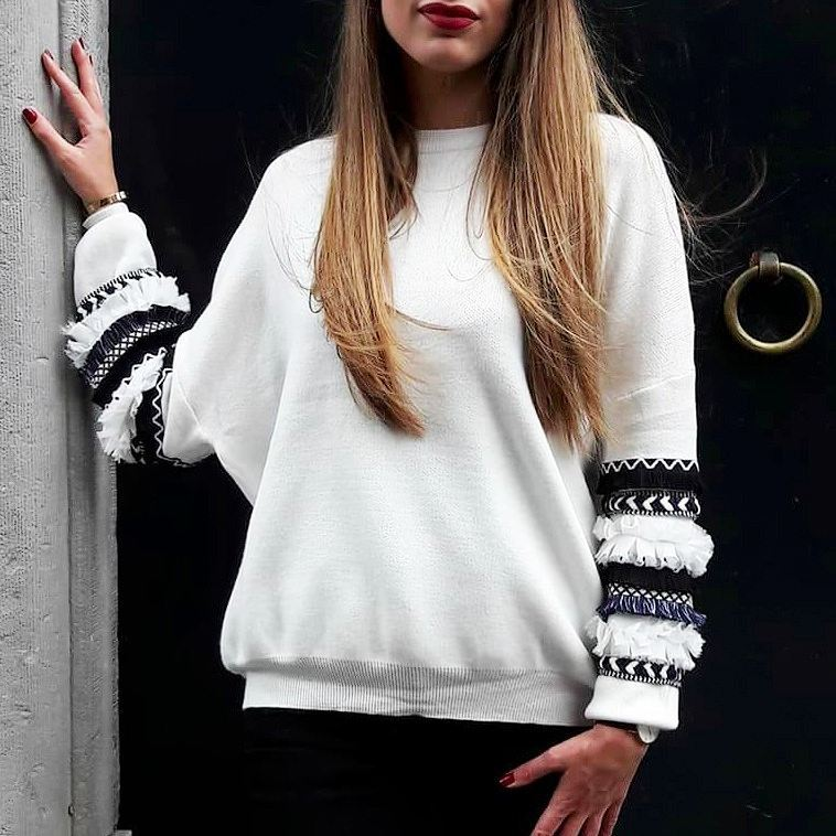 grey frou pullover de Les Bourgeoises sur gwnio_shop
