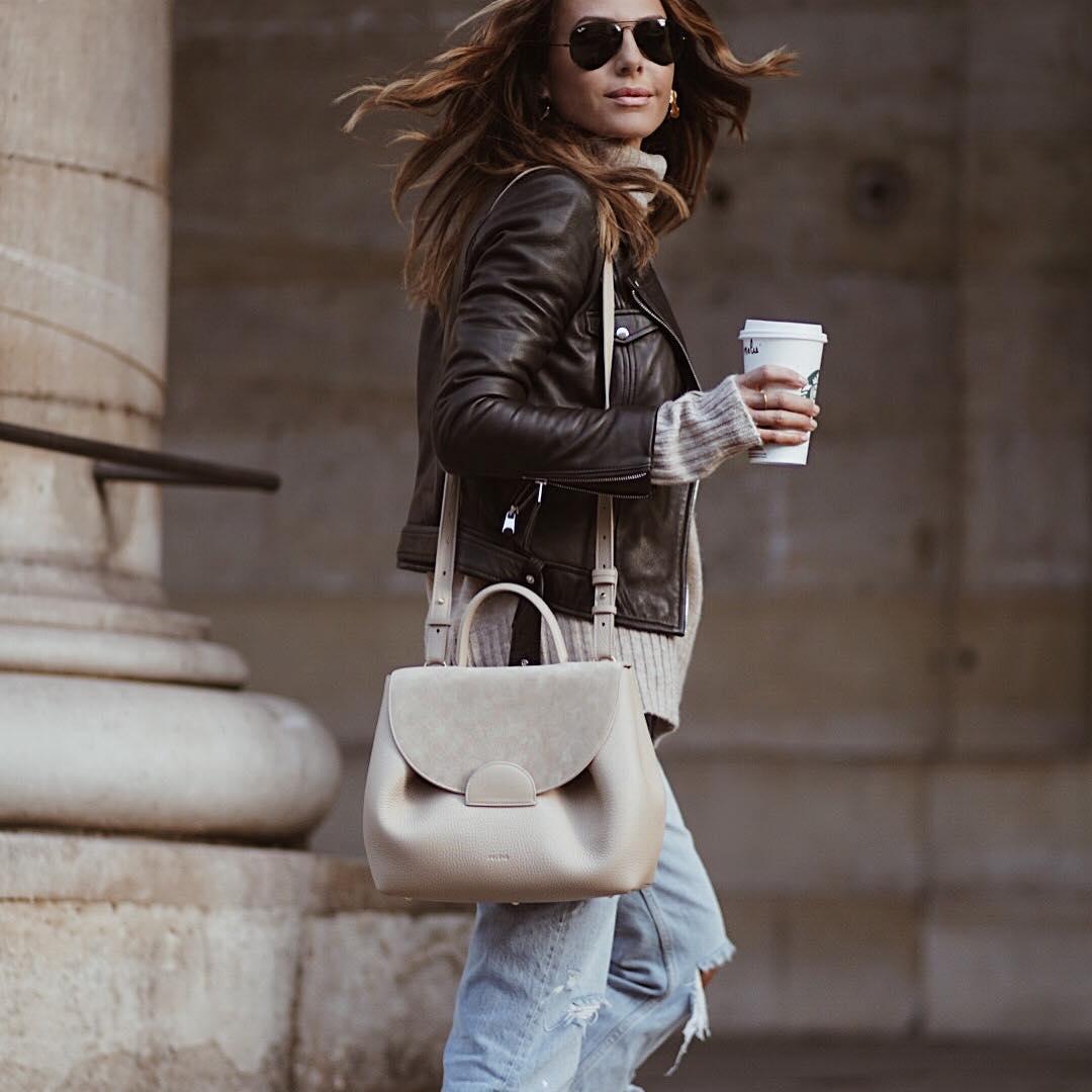 veste de motard en cuir de Zara sur looknatamelie