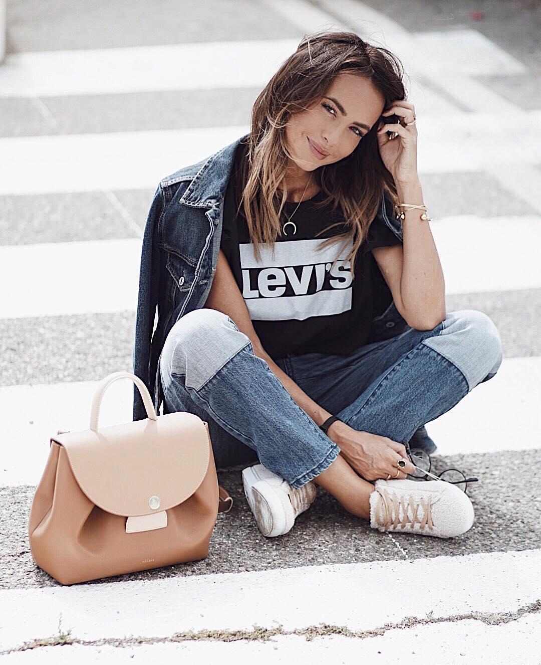 white girls levis t-shirt de Les Bourgeoises sur looknatamelie