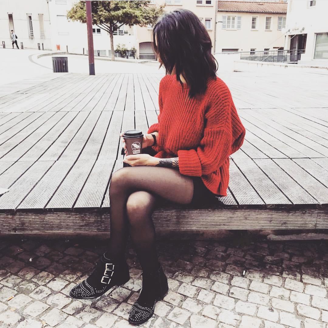 boots noires clous dores vwu de Les Bourgeoises sur vanessawu_officiel