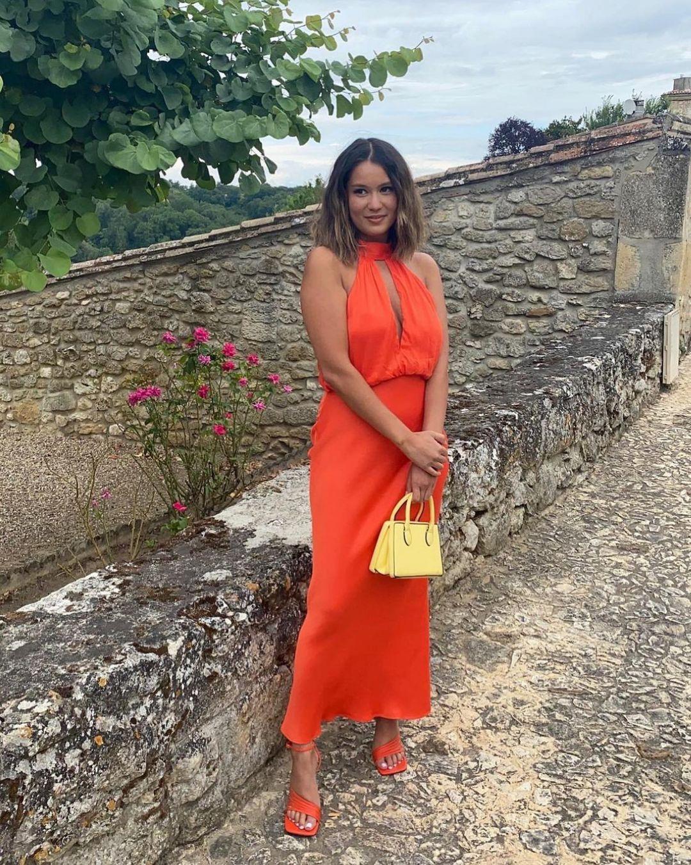 robe satinée halter de Zara sur zara.style.daily