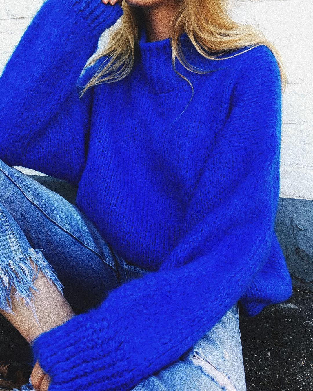 blue indy jumper de Les Bourgeoises sur lesbourgeoisesofficiel