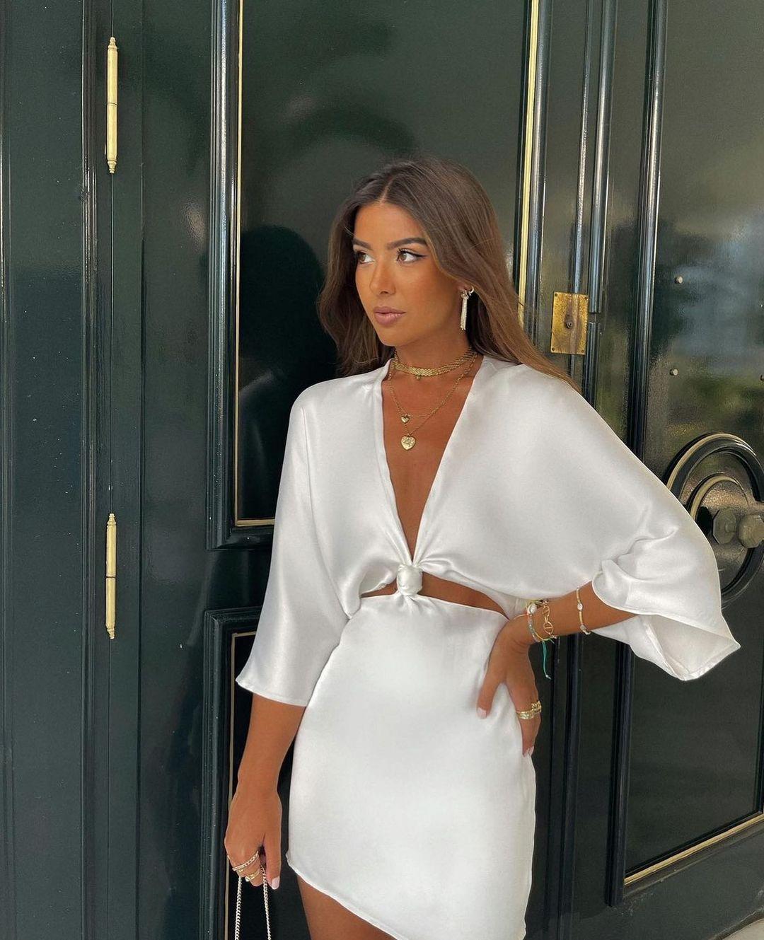satin dress de Zara sur zarastreetstyle