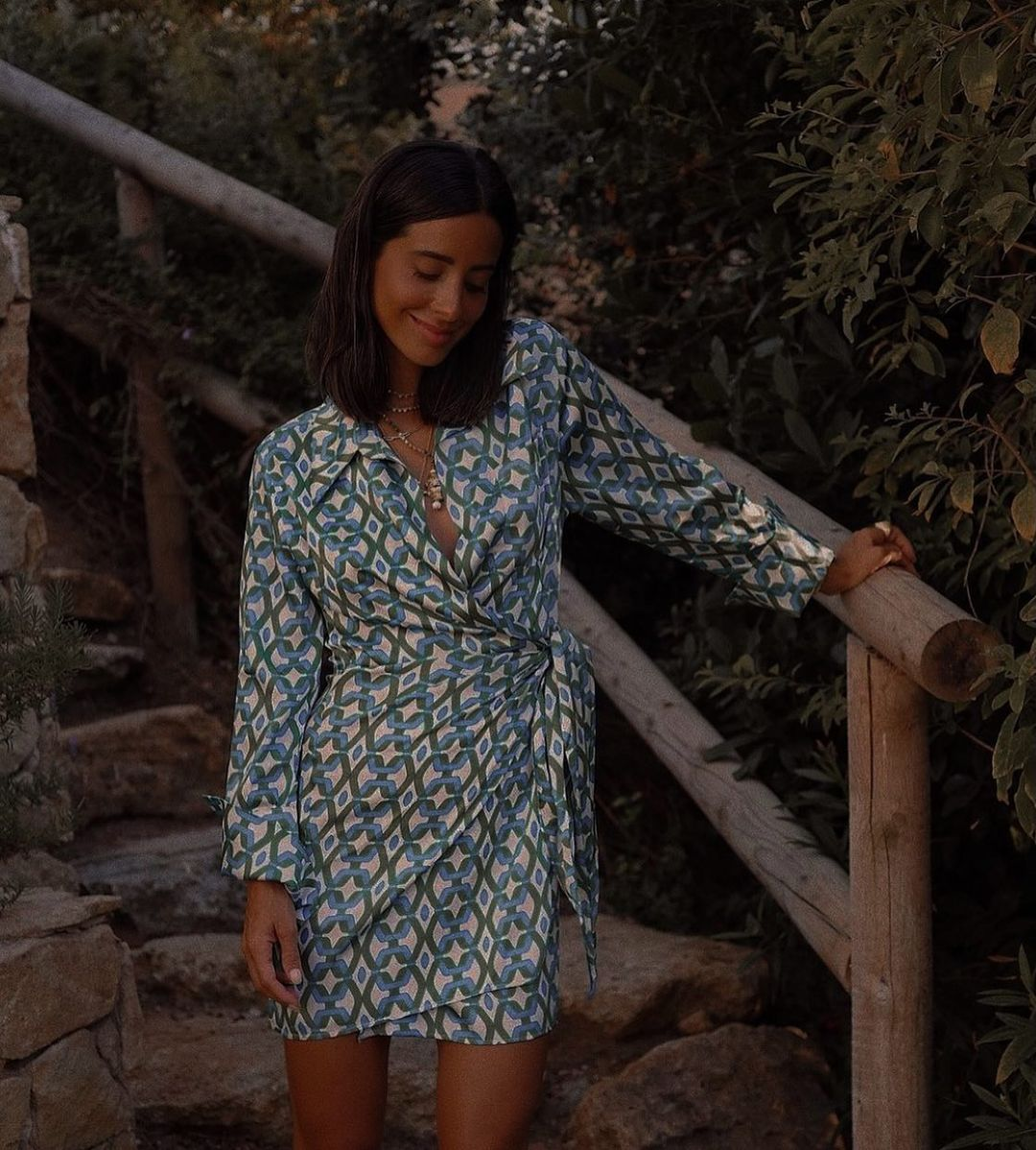 robe quant de Mango sur mangoooutfits