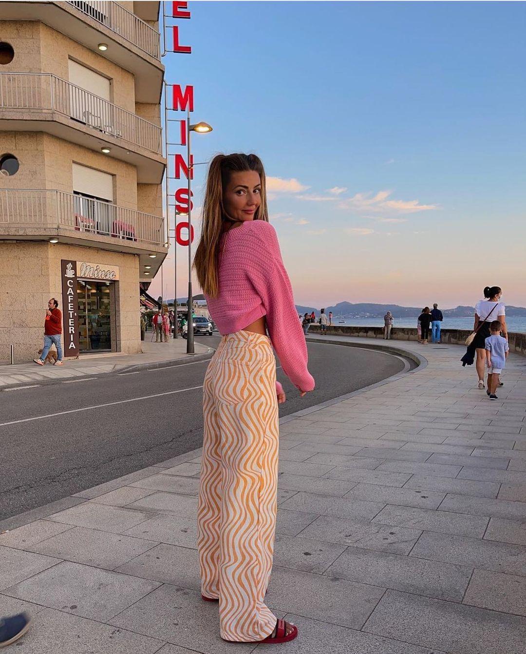 jeans high rise full length imprimé de Zara sur zarastreetstyle