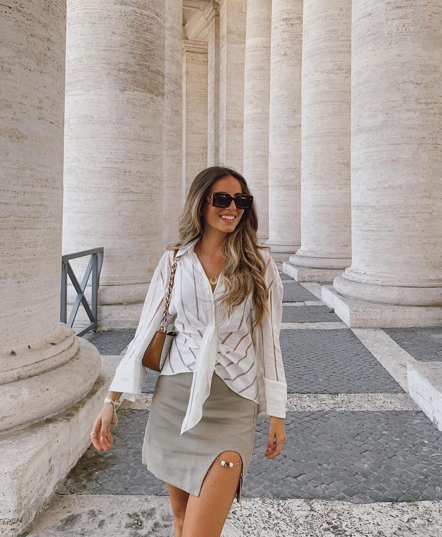 linen mini skirt de Zara sur zaraaddiction