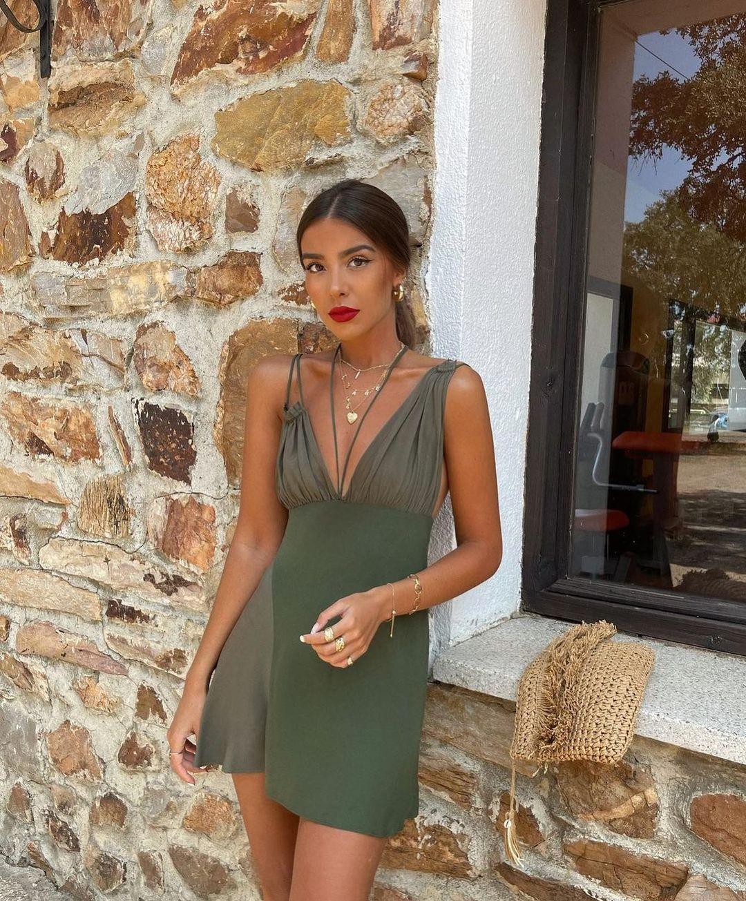 robe courte à bretelles de Zara sur zarastreetstyle