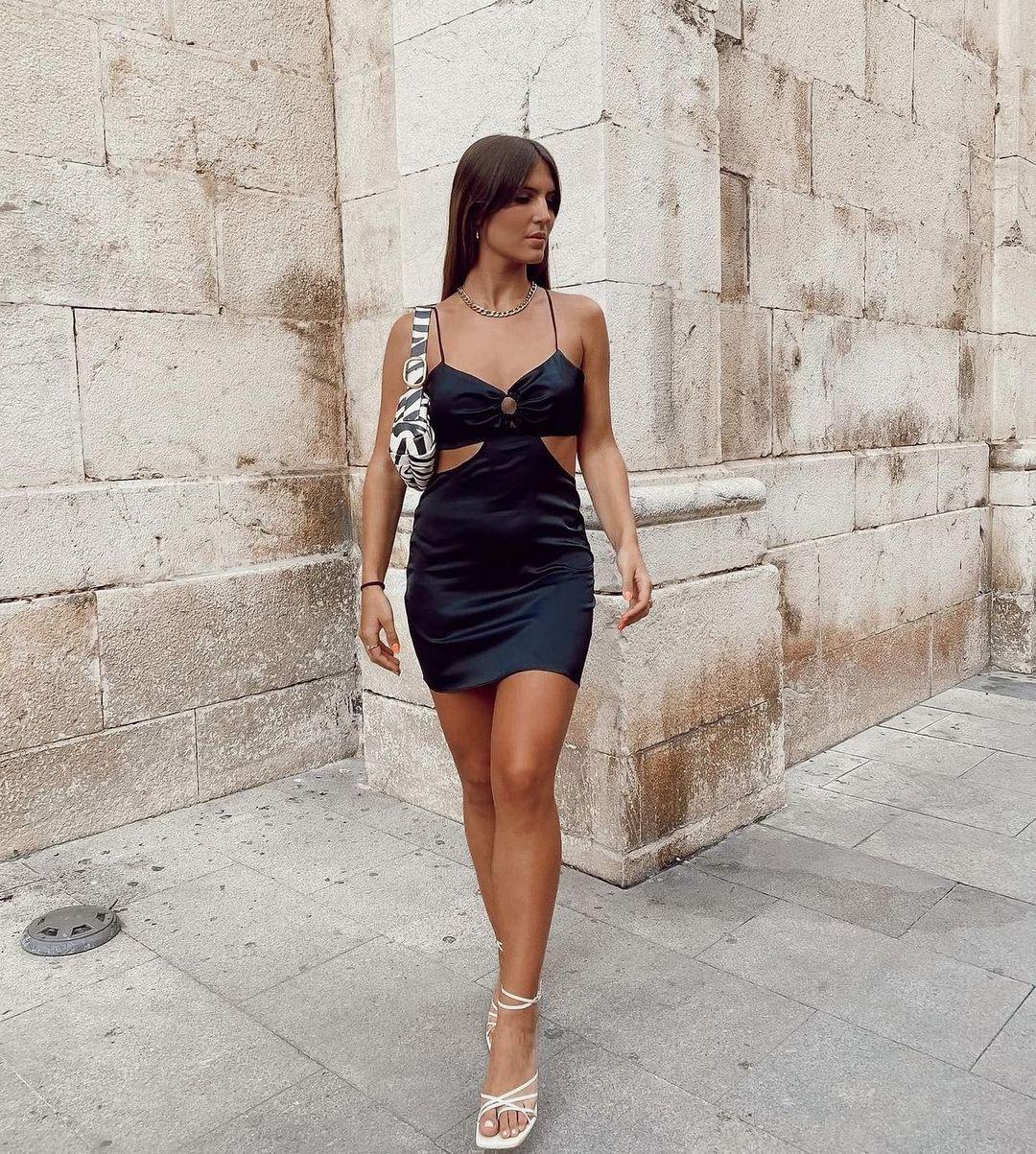 robe courte cut out avec anneau de Zara sur zaradiccion__