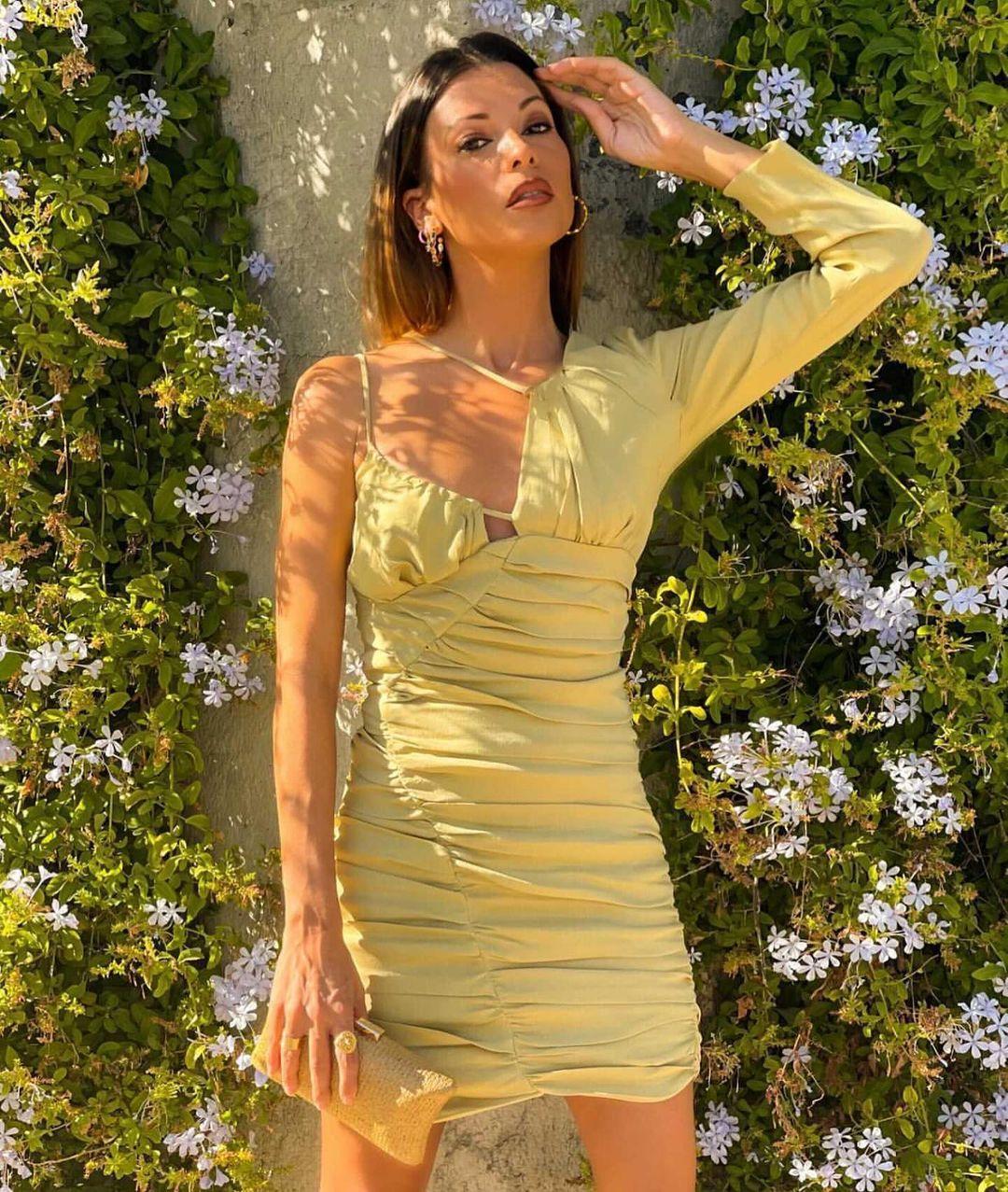 robe avec lin drapée de Zara sur zaradiccion__