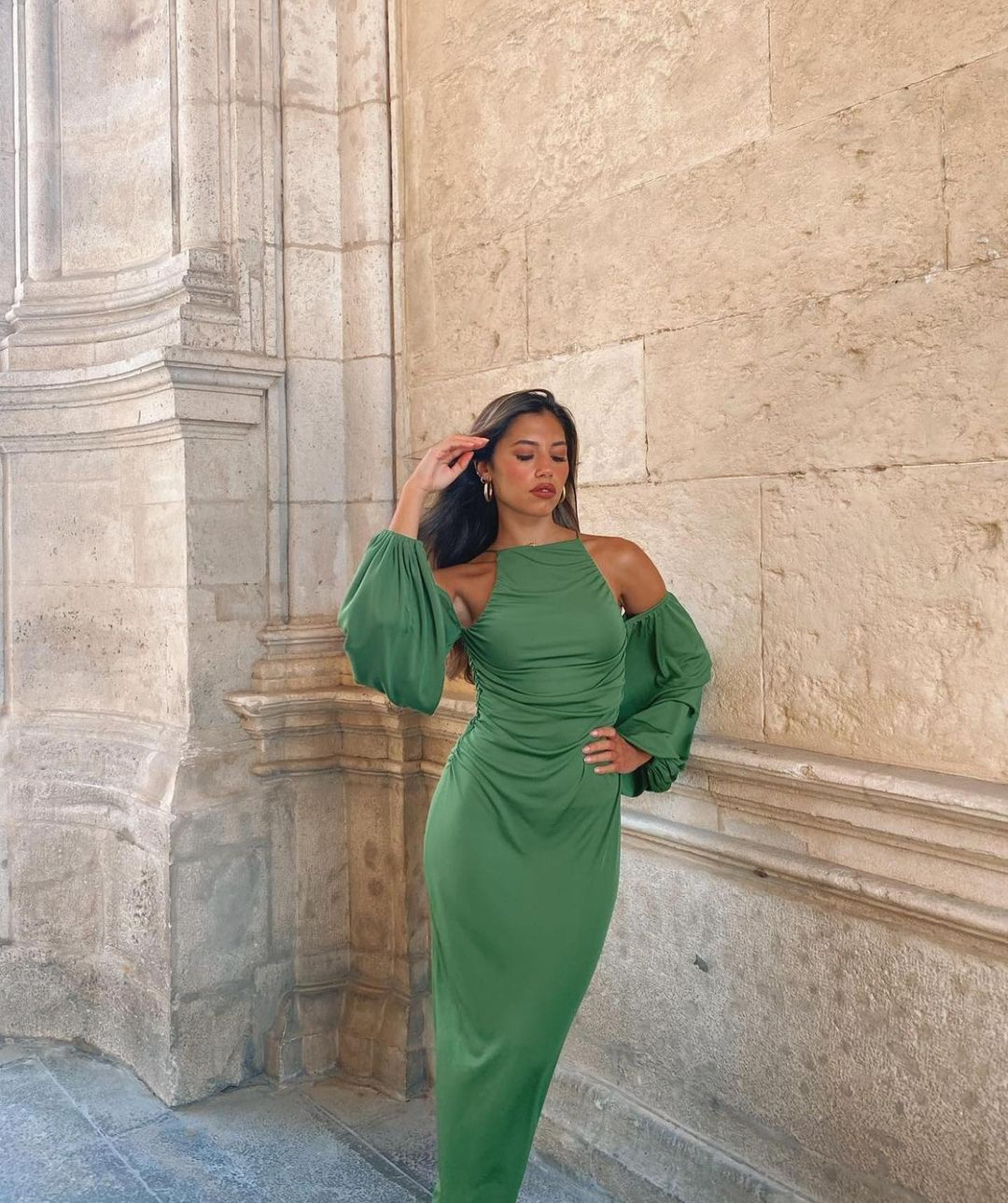 robe longue à fronces de Zara sur zaraaddiction