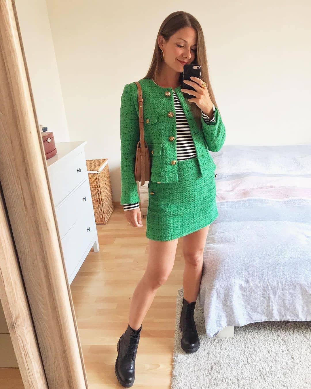 skirt wintour de Mango sur mango.outfits