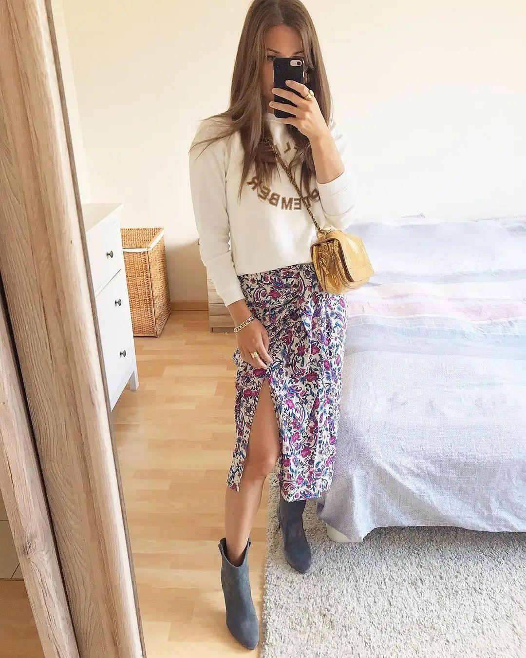 skirt crosser de Mango sur mango.outfits