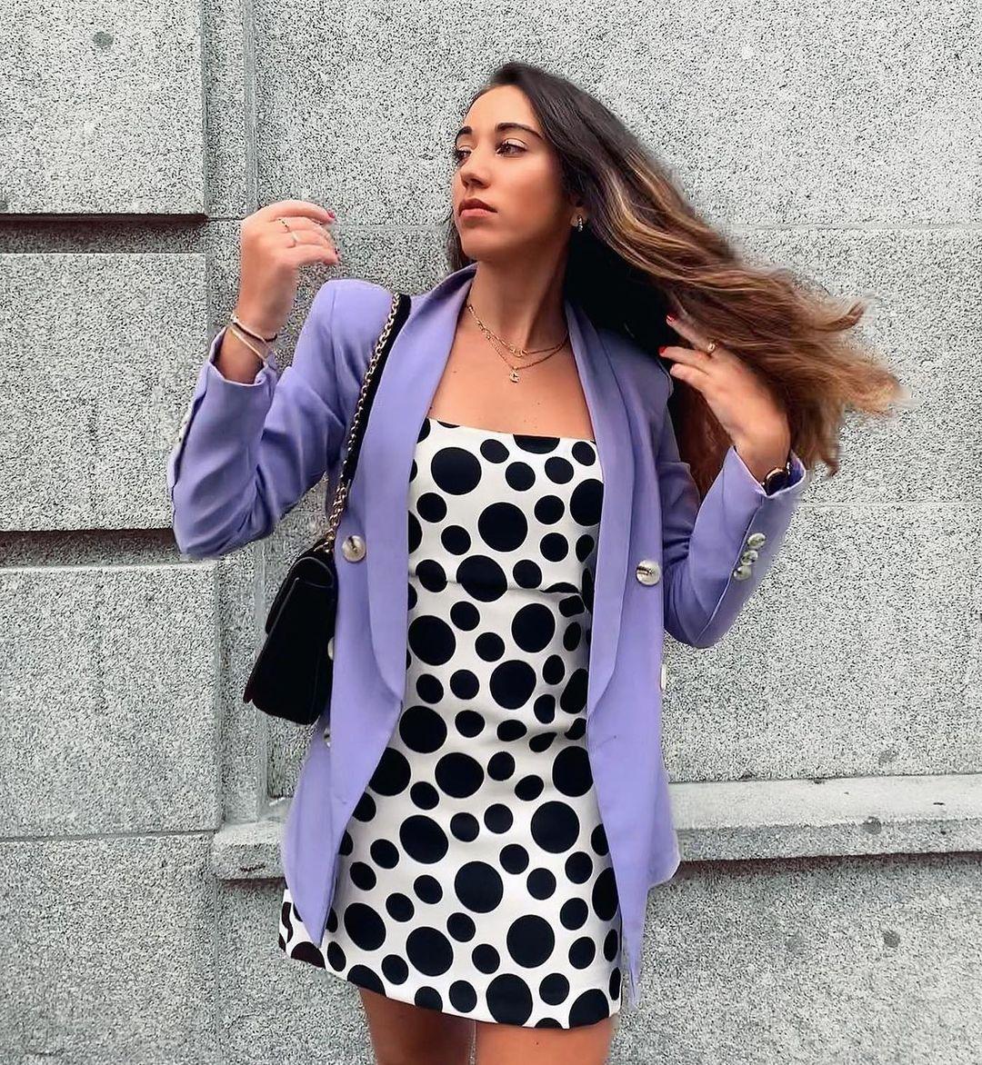 robe courte à pois limited edition de Zara sur zaradiccion__