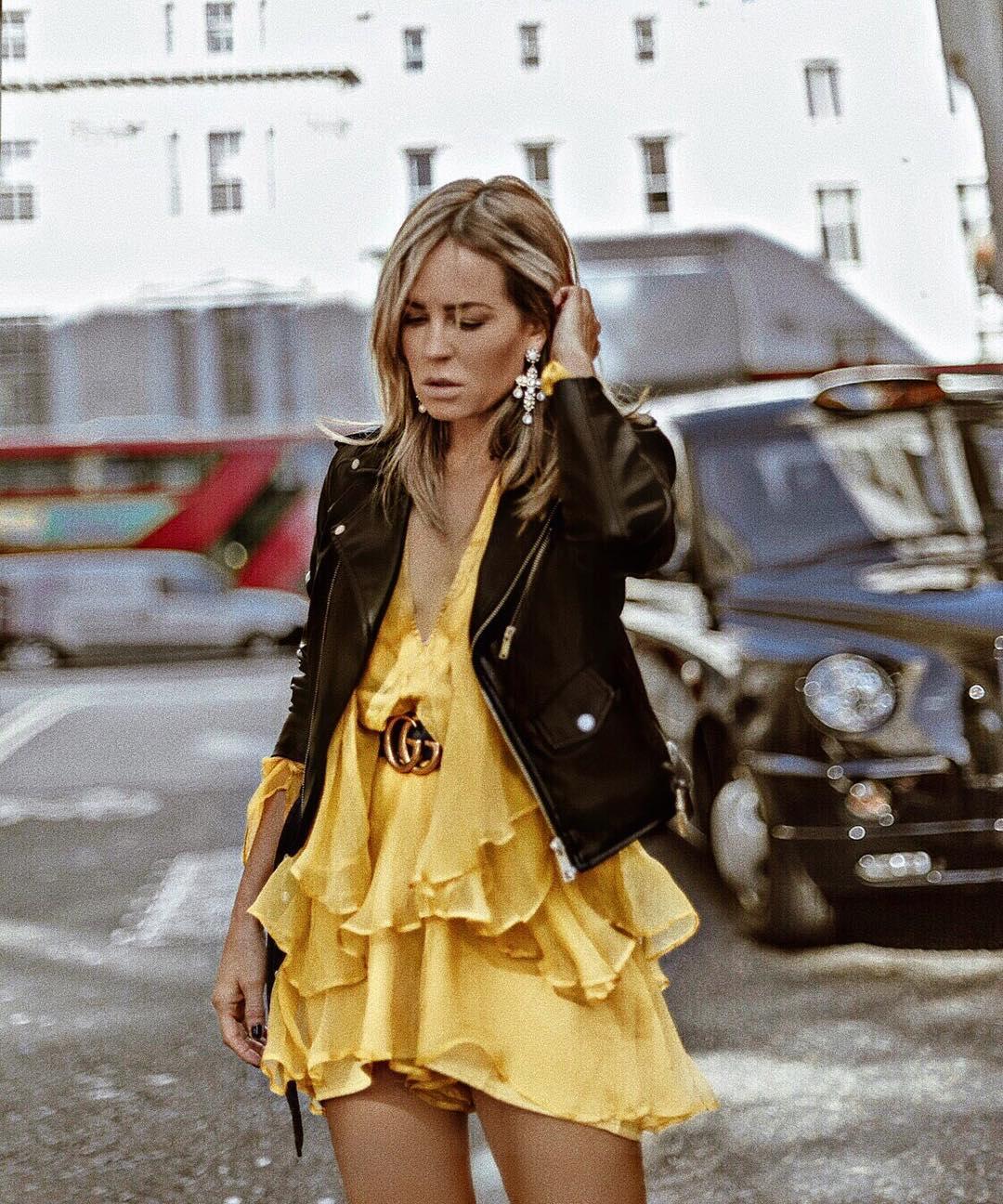 synthetic leather jacket de Zara sur isabelselles