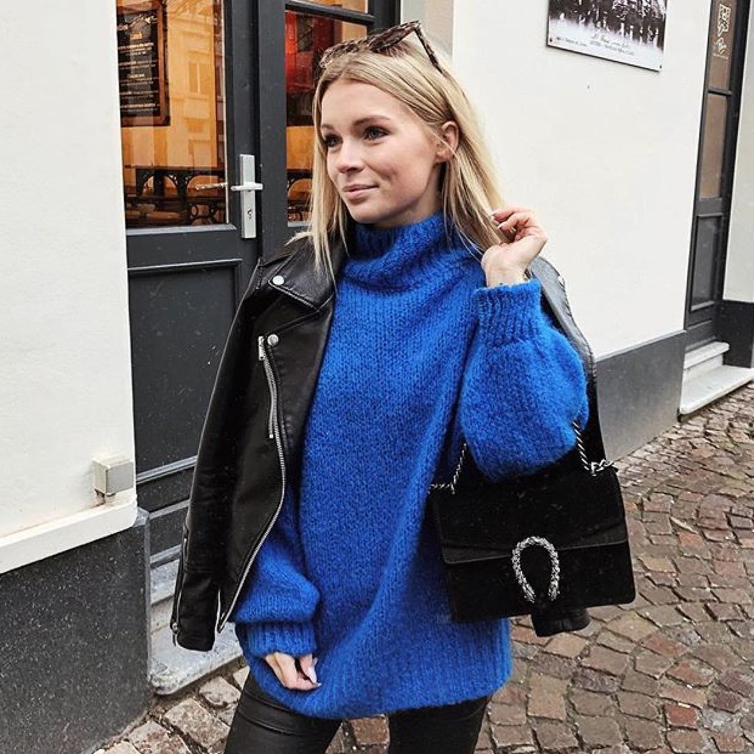 blue indy jumper de Les Bourgeoises sur gallerysbelgium