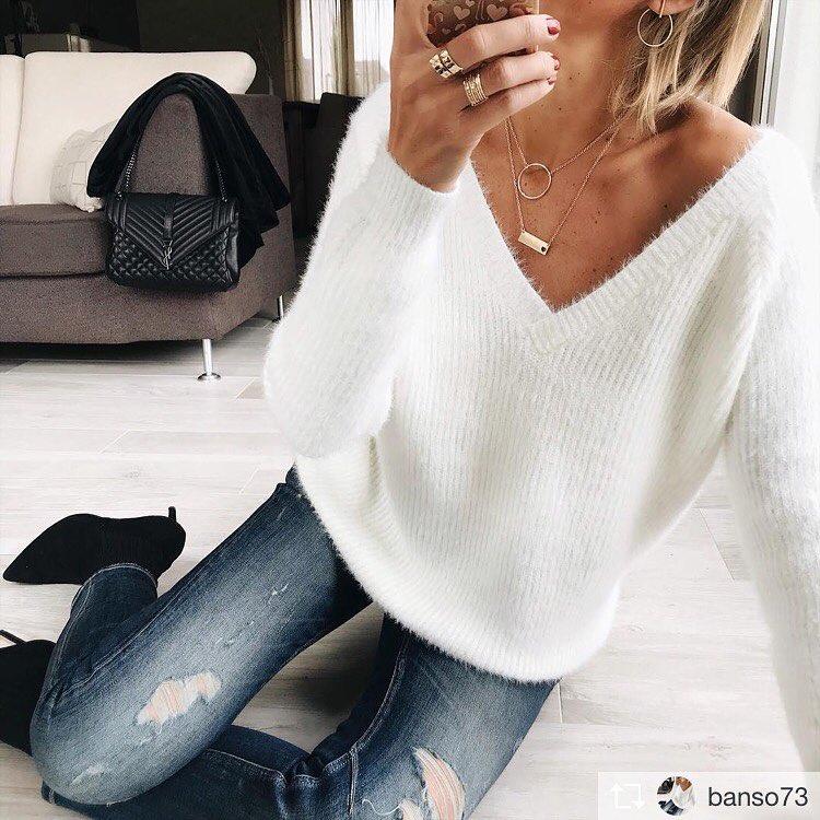 pull doudou blanc de Les Bourgeoises sur fashion_amsterdamers