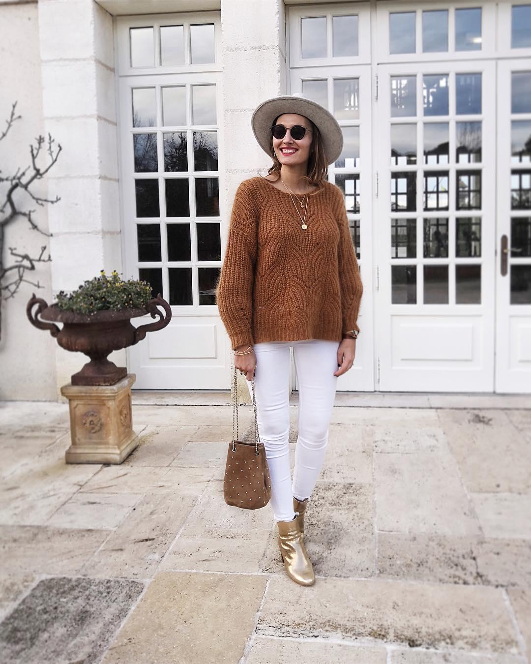 pull beige court de Les Bourgeoises sur lilylovesfashion