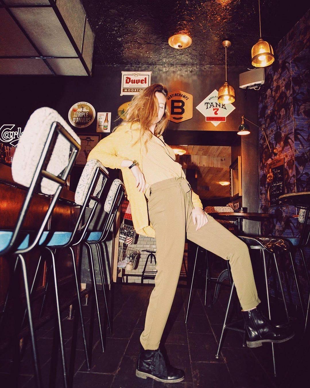 pantalon boutton d
