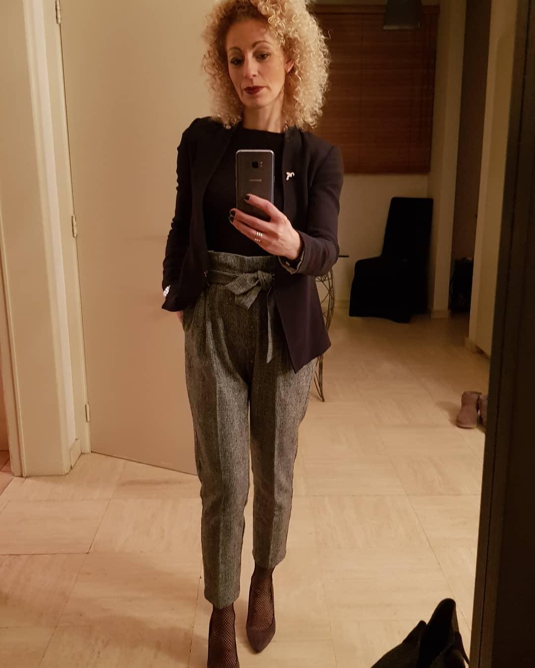 pantalon gris foncé chiné de Les Bourgeoises sur laetitia.lemaitre.777