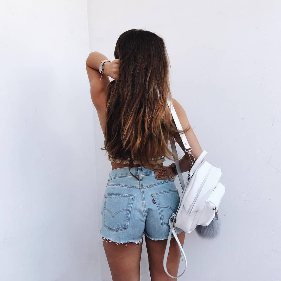 short levis 501 jeans light blue side pulls  de les bourgeoises sur antriguedades