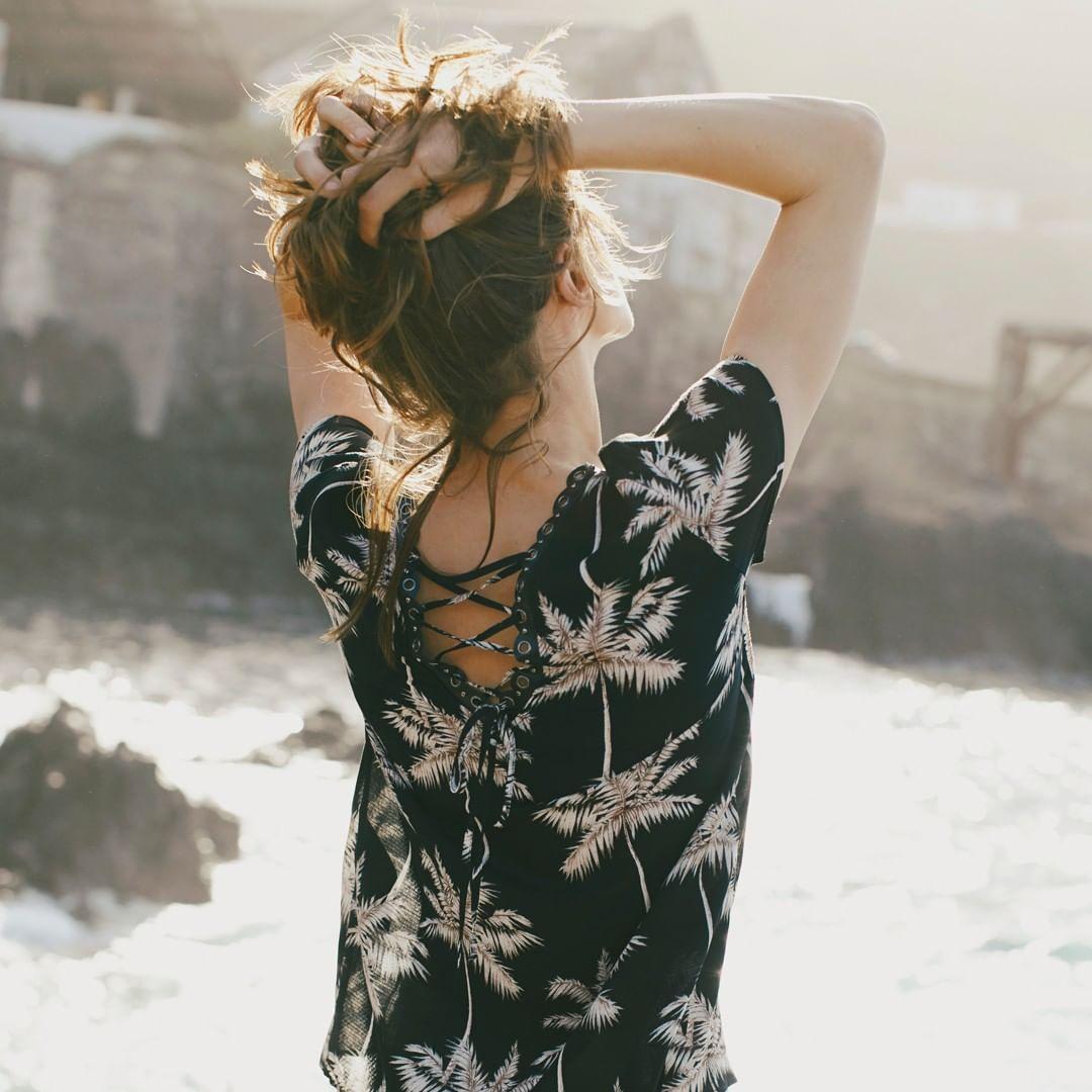 palm tree silk top de IKKS sur ikksofficial