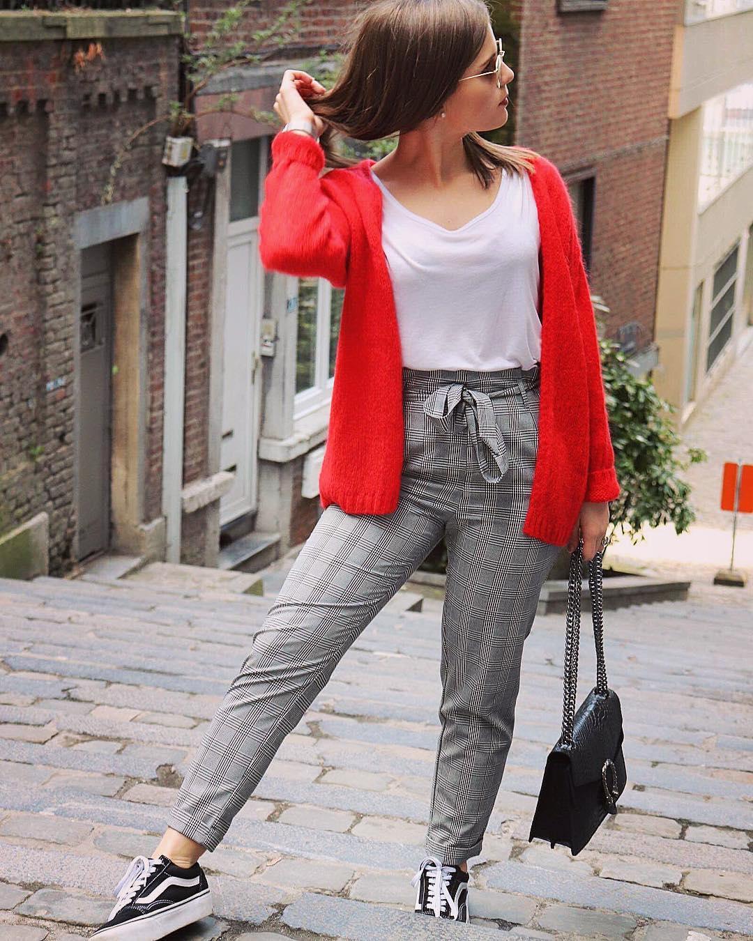 pantalon a carreaux carotte de Les Bourgeoises sur elisandk_