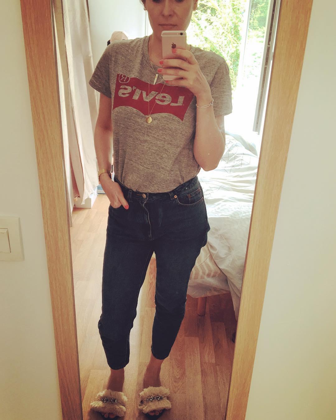 t-shirt levis gris de Les Bourgeoises sur mademoiselleve_