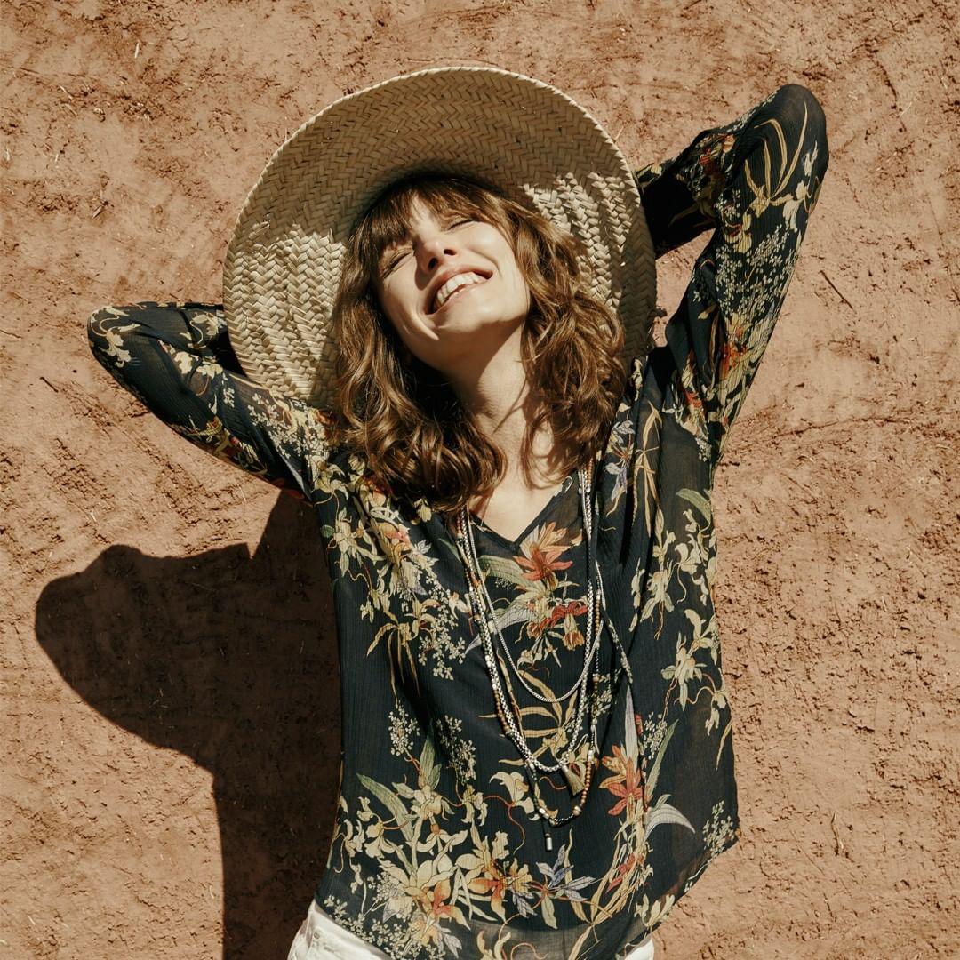 print voile blouse de IKKS sur ikksofficial