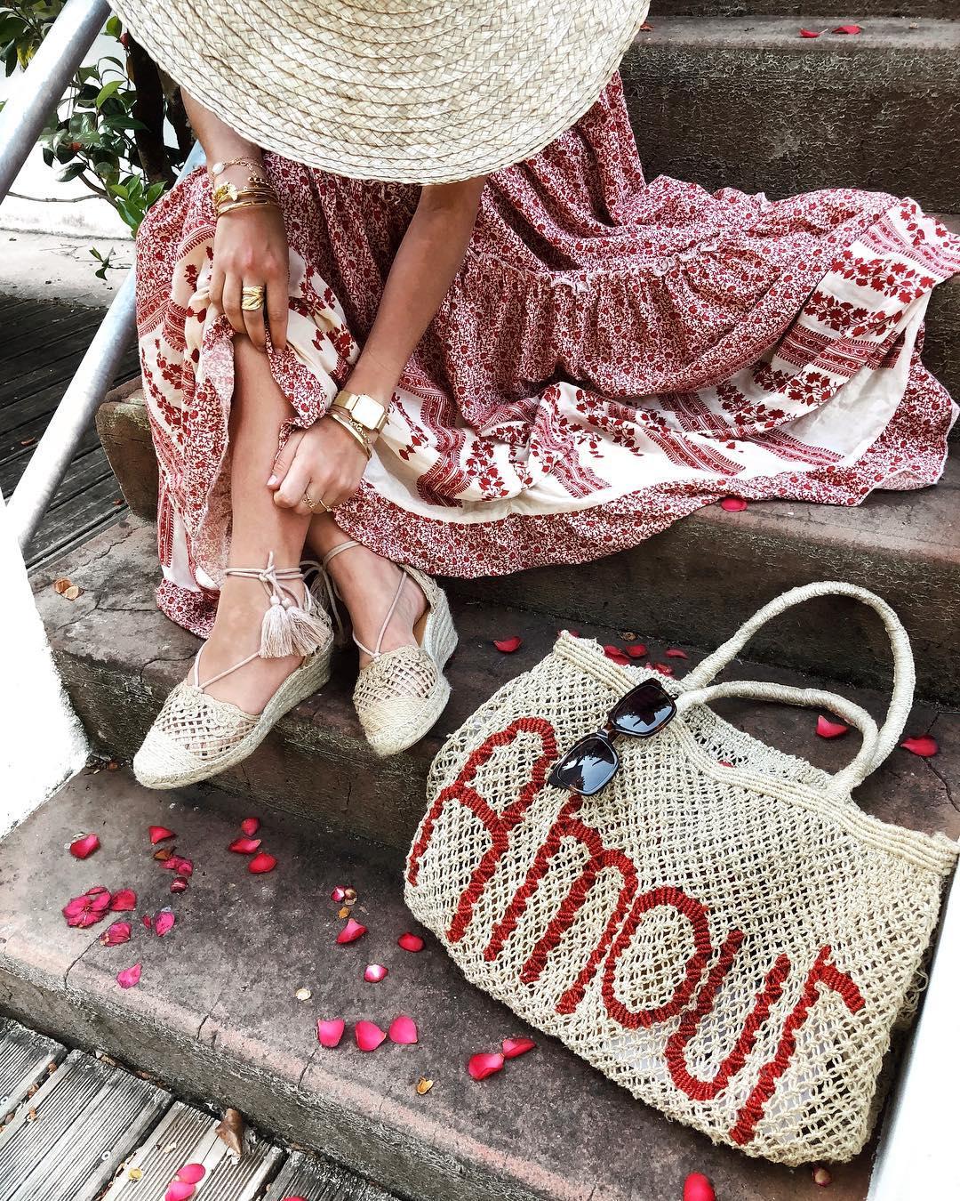 robe longue fleurs rouge de Les Bourgeoises sur lilylovesfashion