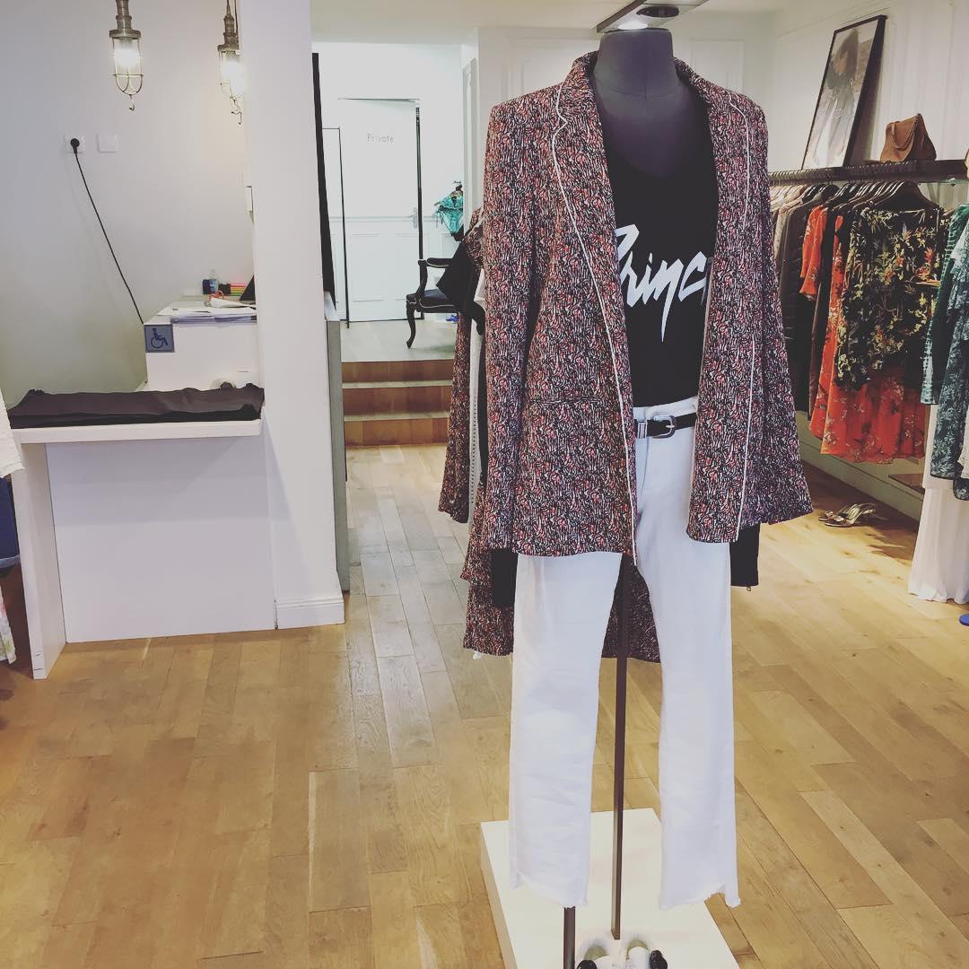 women's micro print jacket de IKKS sur ikfaubourg