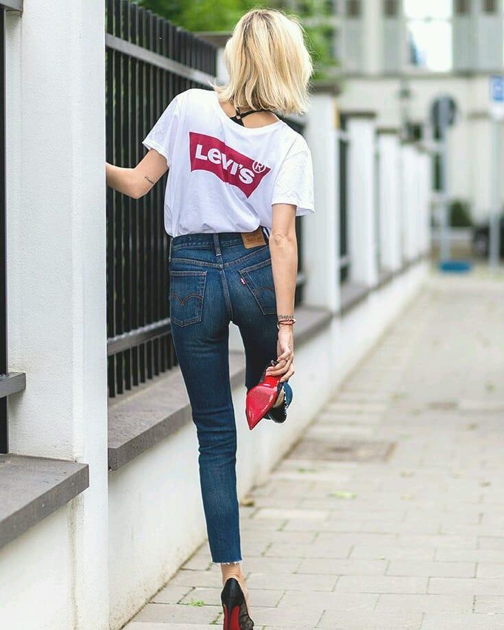 white levis t-shirt de Les Bourgeoises sur varekasstores