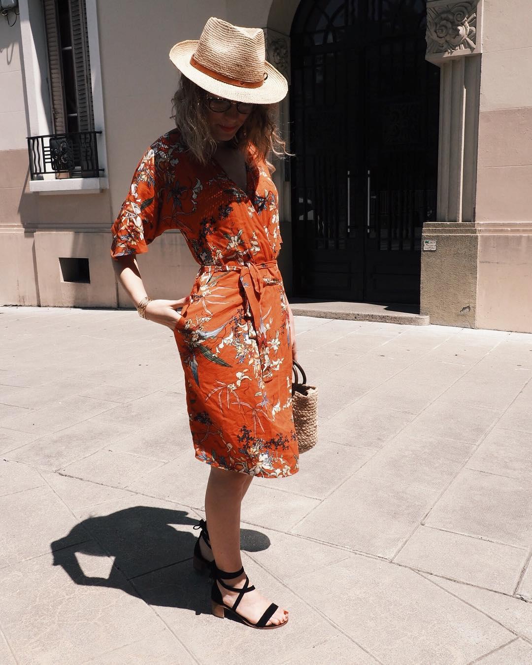 floral print fitted dress de IKKS sur bymari_e