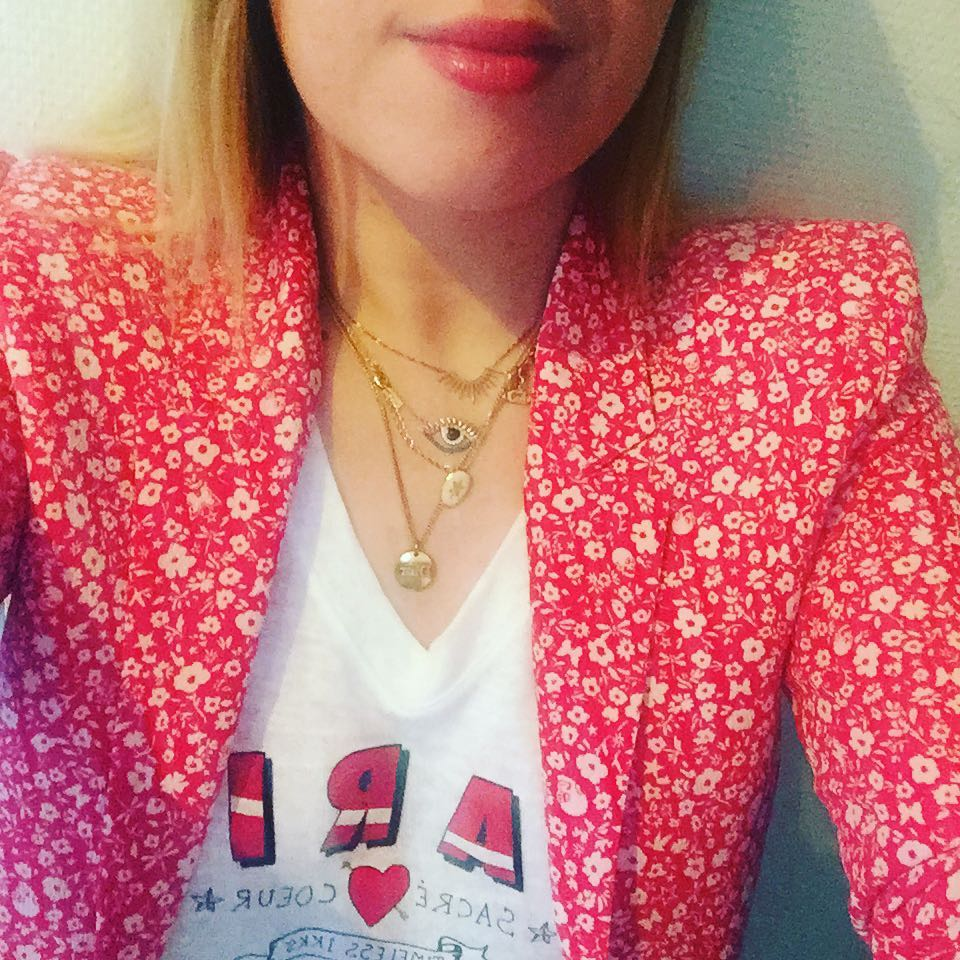 women's printed crêpe jacket de IKKS sur chicaloca1183