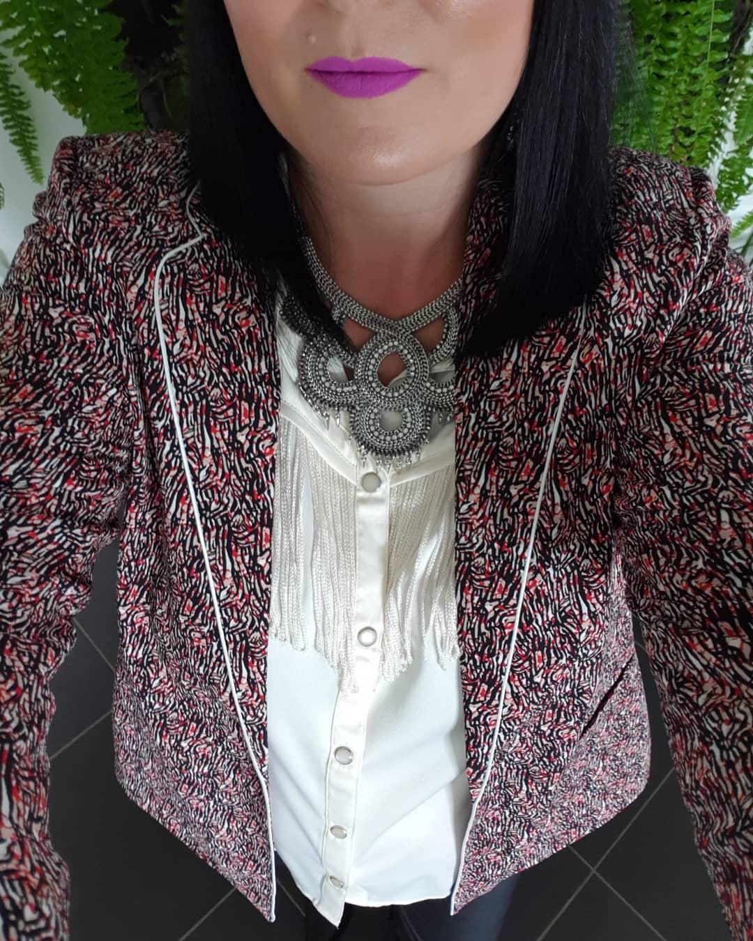 women's micro print jacket de IKKS sur melfortyseven