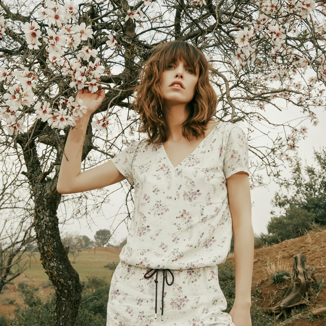 floral jacquard dress de IKKS sur ikksofficial