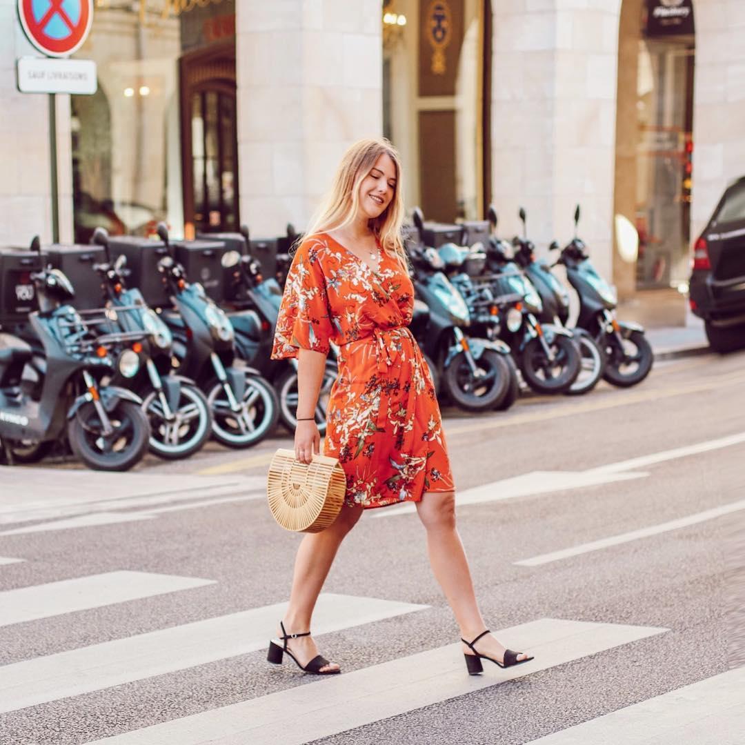 floral print fitted dress de IKKS sur liaofficiel