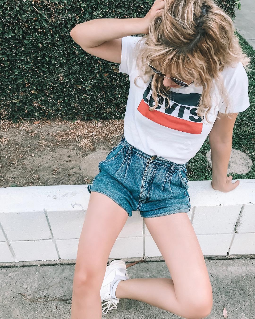 white girls levis t-shirt de Les Bourgeoises sur dressmelikethat