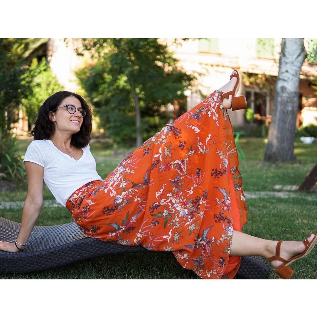 long floral print skirt de IKKS sur elisa.roux