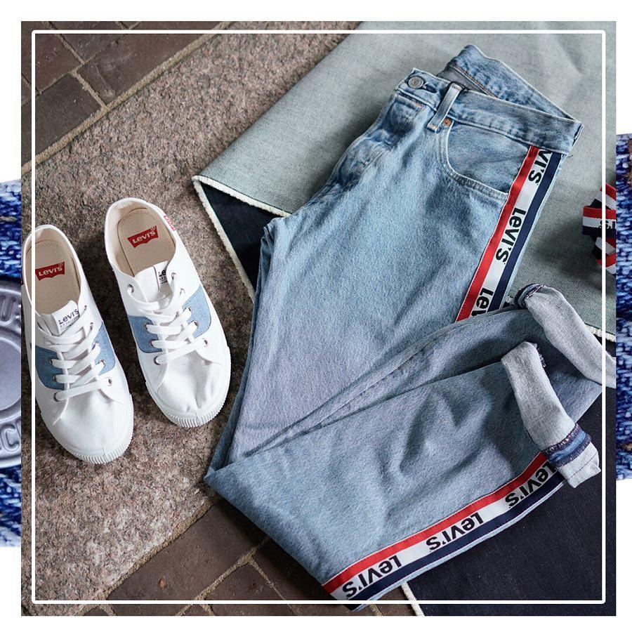jeans levis bande laterale rouge de Les Bourgeoises sur levis_belgium