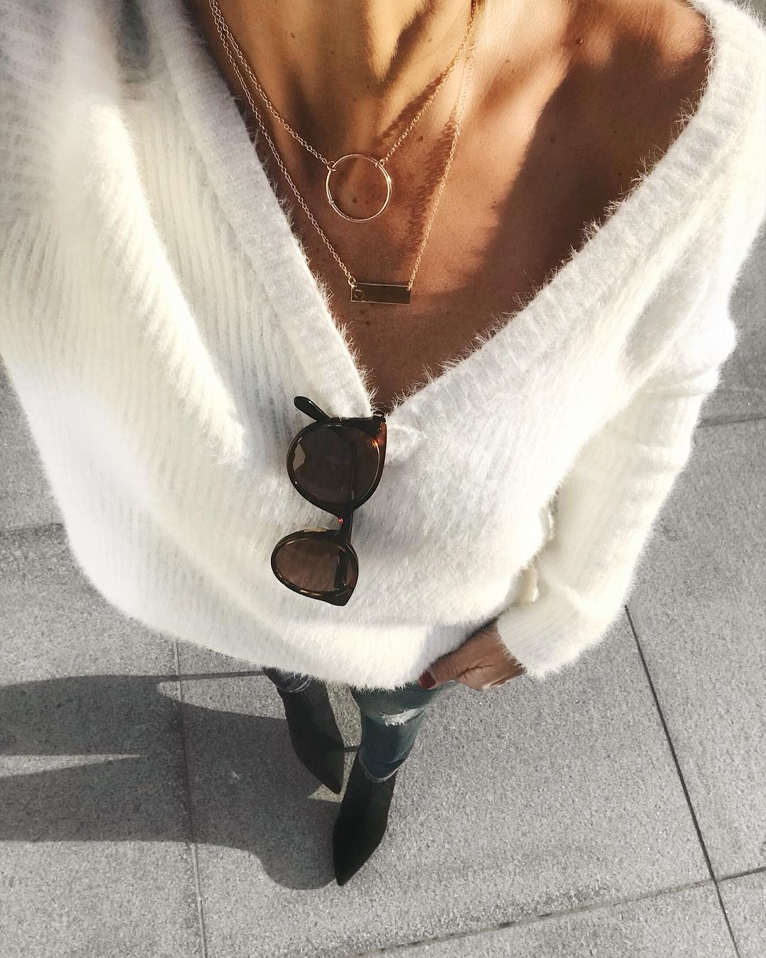 pull doudou blanc de Les Bourgeoises sur banso73