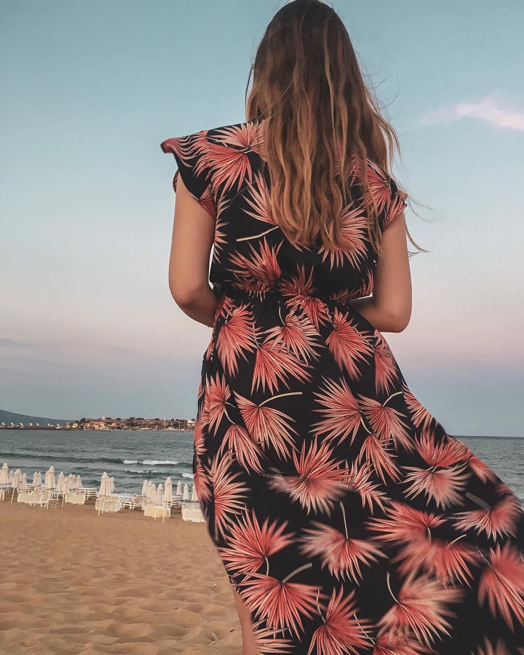 robe longue navy palm de Les Bourgeoises sur onlylife